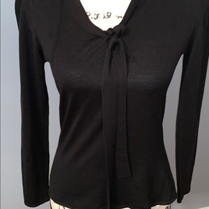 DEAR JOHN 100% silk black top medium petite